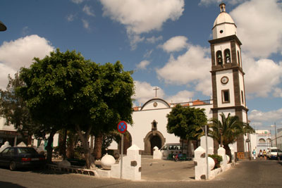 The church and plaza of San Gines